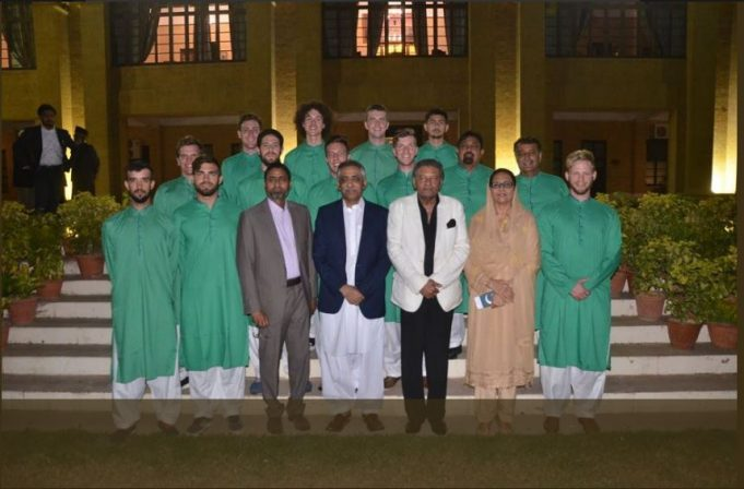 Governor Sindh M.Zubair hosted foreign hockey players & PHF officials in Governor House.