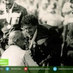Hassan Sardar Reciving Gold medal Pakistan won the Olympic gold for field hockey was in USA, 1984