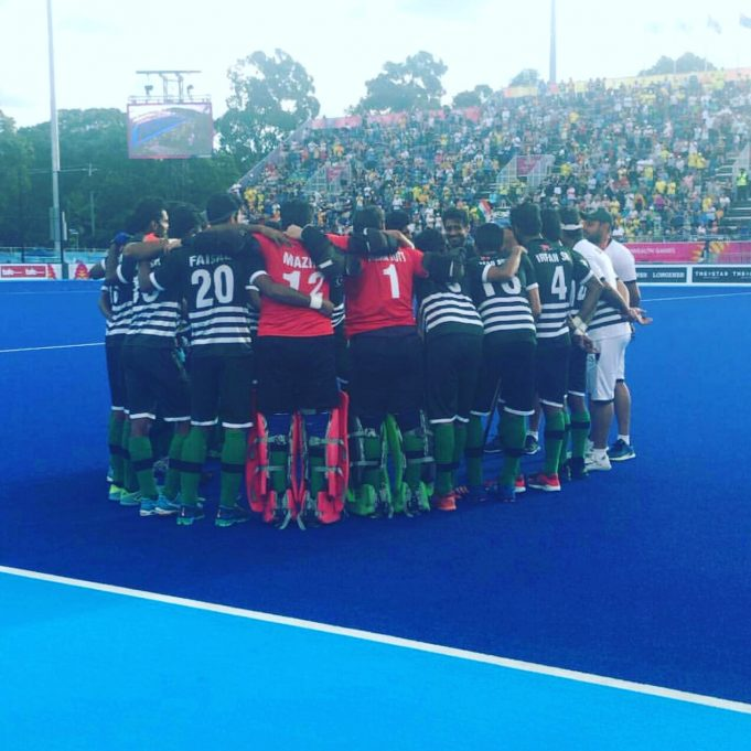Pakistan Team in commonwealth games against Canada
