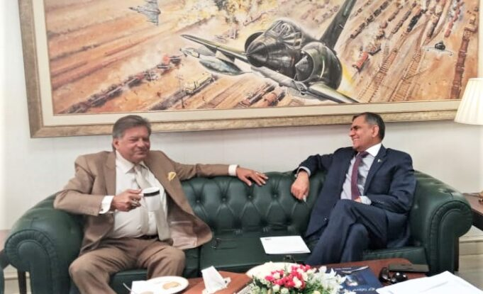 President PHF meets CEO PIA at Islamabad, today.