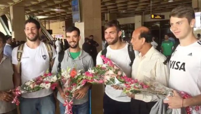 International players reach Karachi for hockey tournament
