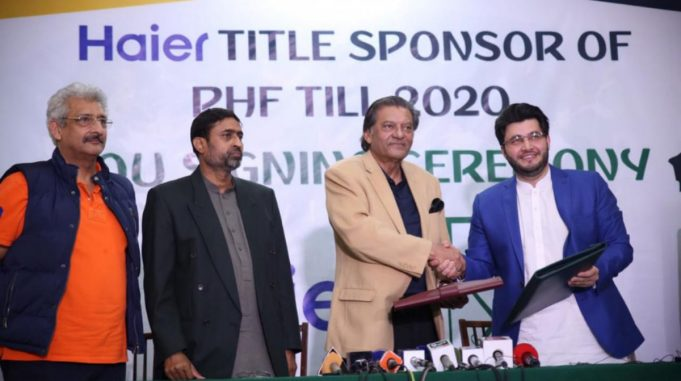 Haier Pakistan has agreed to sponsor the PHF and Hockey Team