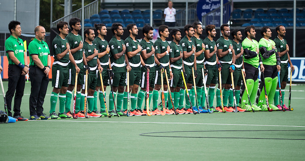 Pakistan Hockey Team Standing National Anthem