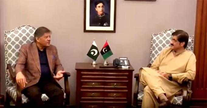 President Pakistan Hockey Federation Brigadier (Retd.) Muhammad Khalid Sajjad Khokhar Called on Sindh Chief Minister Syed Murad Ali Shah at CM House on February 18th, 2020 and briefed him on affairs of Pakistan Hockey, discussed ways and means to uplift the National game and requested him for sindh government support. Sindh Chief Minister Syed Murad Ali Shah assured his support to the PHF in its efforts to hold the first Hockey League in October- November this year.