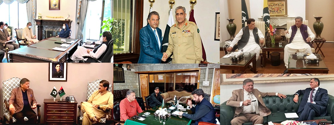 President PHF meeting with Armu Chief, Prime Minster, Chief Minster , CM, PM,